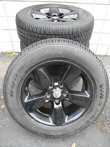 """20"""" Dodge RAM 1500 Factory Gloss Black Wheels with Goodyear Tires 2453 110301"""
