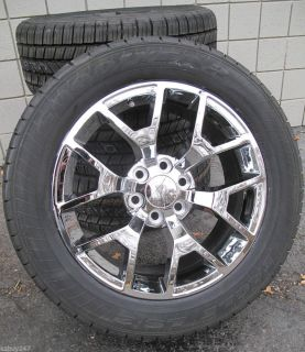 "20"" GMC Yukon Sierra Brand New 2014 Factory Style Chrome Wheels Goodyear Tires"
