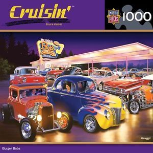 Masterpieces Cruisin Bruce Kaiser Burger Bobs Hot Rods Jigsaw Puzzle 1000 PC