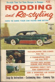 Rodding and Restyling Nov 1956 Hot Rods Street Rods T Buckets Customs
