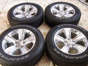 "New Takeoffs 2013 Dodge RAM 1500 20"" Factory Alloy Wheels Rims Goodyear Tires"