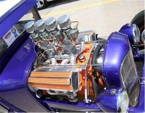 Vtg Style Polished Dome Air Cleaner 2 Barrel Rat Hot Rod Custom Stromberg Carb