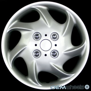 """4 New Silver 15"""" Hub Caps Fits Chevy Truck Van Crossover Wheel Covers Set"""