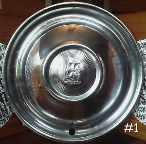 """Set of 4 1951 1952 Plymouth Chrome Hubcaps for 15"""" Wheel OEM Original"""