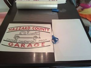 Dukes of Hazzard Vehicle Decal Set Hazzard Garage Cooter Tow Truck Decals