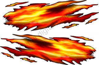 Car Truck Decals Fire Flame Boat Vinyl Trailer Graphics 6ft and Up