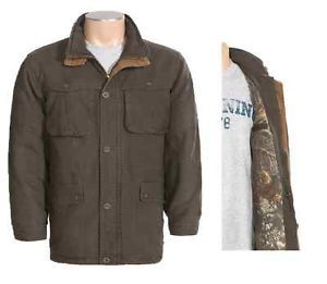 Browning Fremont Truck Jacket Washed Cotton Canvas Mossy Oak Camo Interior