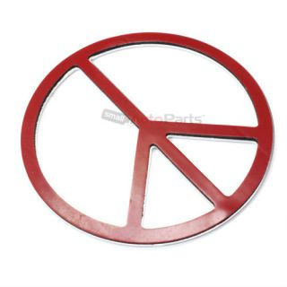 3D Groovy Peace Sign Chrome Emblem Decal Sticker for Auto Car Truck Bike