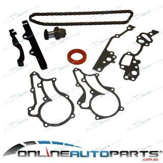 New Engine Timing Chain Tensioner Gasket Seal Guides Kit 22R 22RE 2 4L Toyota