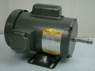 Baldor 1 2 HP 1725 RPM Electric Motor L3504