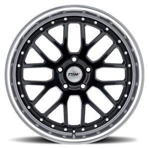"17"" TSW Black Wheels and Snow Tires Package Volkswagen MK5 MK6 GTI Jetta Audi A3"