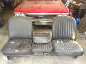"1967 68 Chevy GMC Truck Factory Buddy Bucket Seats 69 70 71 72 Chevrolet ""RARE"""