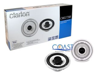 "Clarion CMG1720R 7"" 2 Way 180W Max Water Resistant Car Speakers System Pair New"
