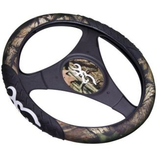 New Browning Buckmark Logo Mossy Oak Camo Rubber Molded Steering Wheel Cover
