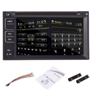 6 2 inch Touchscreen 2 DIN Vehicle Car CD DVD  Player Bluetooth Radio USB