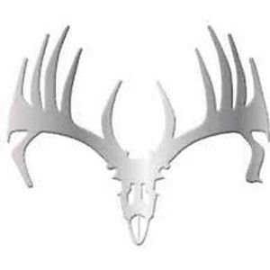 Big Rack Emblems Whitetail Skull 2 Pack Stainless Steel for Truck Car Decals