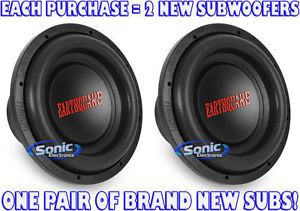 "2 Earthquake Sound Dbxi 12 DBXI12 12"" Single 4 Ohm Dbxi Car Subwoofers Subs"