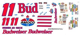 11 Bill Elliott Budweiser Ford Reverse Colors 1 32nd Scale Slot Car Decals