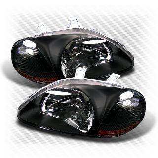 92 Honda Civic Black Head Lights