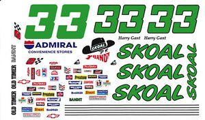 33 Harry Gant Skoal Reverse Colors 1 32nd Scale Waterslide Slot Car Decals