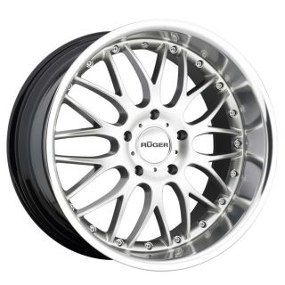 """19"""" Ruger R10 Wheels Silver Porsche Panamera s 4S GTS Turbo Staggered Mesh"""