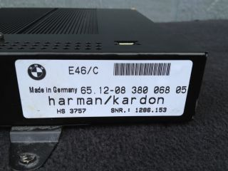 BMW E46 Convertible HK Amplifier Amp Controller Harman Kardon Audio Unit