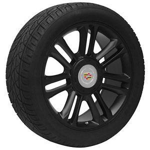 "24"" inch Cadillac Escalade Platinum Edition Black Wheels Rims and Tires"