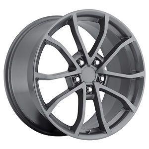 18x8 5 19x10 2012 Cup Rims Comp Grey C4 C5 C6 Corvette Camaro Firebird Wheels
