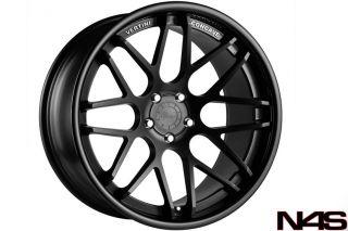 "20"" BMW E60 M5 Vertini Magic Concave Black Staggered Wheels Rims"