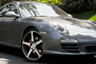 "20"" Porsche 997 911 Carrera 4 s CEC C884 Gunmetal Concave Staggered Wheels Rims"