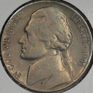 1941 s Jefferson Nickel Large s Mint Mark Variety
