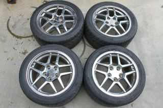 "82 02 Camaro Firebird Corvette C5 Z06 Chrome 17""x9 5"" Wheels w Tires Used"