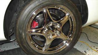 """17 """" Corvette C4 Chrome Grand Sport Style Wheels New Tires"""