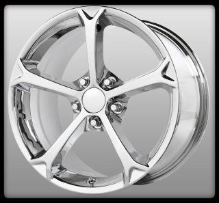 "18"" x 9 5"" Wheel Replicas V1162 Grand Sport Chrome Corvette Wheels Rims"
