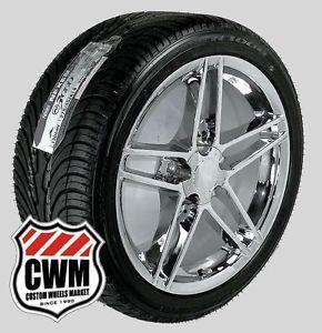 "17x9 5"" Corvette C6 Z06 Chrome Wheels Rims Tires for Chevy Corvette C4 1988 1996"