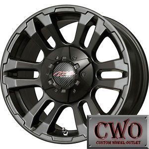 16 Black MB TKO Wheels Rims 8x165 1 8 Lug Chevy GMC Dodge RAM 2500