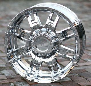 17 inch Chrome Wheels Helo 835 Chevy GMC Dodge 2500 3500 Trucks 8 Lug 8x6 5