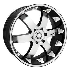 "20"" Noir Vendetta Wheel Tire Package Rims 5 6 Lug Vehicles Chevy"