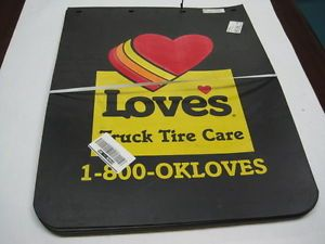 """Loves Truck Tire Care Mud Flaps Large 24""""w x 30""""L Set of 2"""