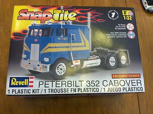 1 32 Peterbilt 352 Cabover Truck Slot Car Project w Aluminum Wheels