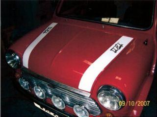 Classic Mini John Cooper Bonnet Stripes Graphics Decals Stickers
