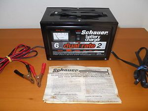 Schauer Dual Rate Auto Battery Charger Model BH12 with Instruction Manual