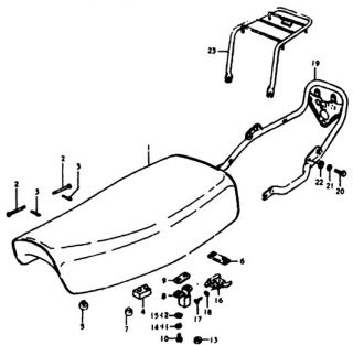 Genuine Suzuki TS125 TS100 DS125 DS100 Complete Dual Seat Saddle Assembly