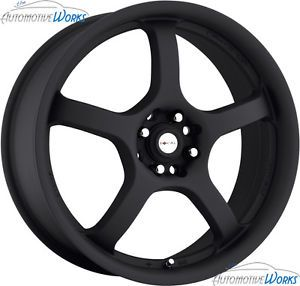 17x7 5 Focal 166 F05 4x100 4x108 4x4 25 42mm Matte Black Wheels Rims inch 17""