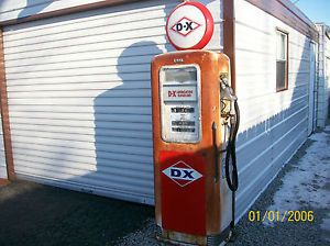 Erie Gas Pump DX Model 748 10 Garage Mancave Display Auto