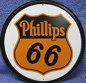 Phillips 66 Gas Pump Station Mechanic Garage Auto Shop Metal Wall Ad Sign