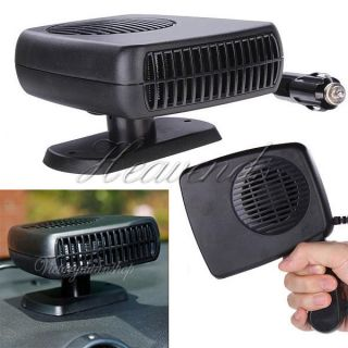 Portable 12V Car Vehicle Ceramic Heater Cooling Fan Defroster Demister Hot Cold