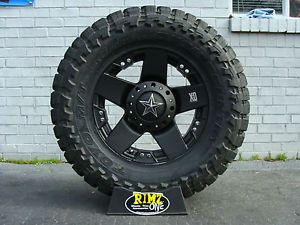 "20"" XD Rockstar Black 35x12 50R20 Toyo Open Country MT 35"" Mud Tire Best Mileage"
