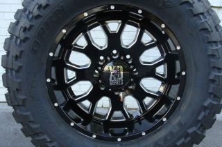 "20"" XD 808 Menace Wheels Black Toyo MT Tires 33x12 50R20 33"" Mud Tire 360330"