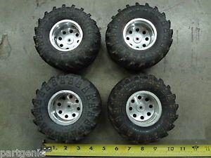 4 Pro Line Wheels Masher 2000 3 3 Maxx Mud Tires Traxxas Revo T Maxx RC Truck